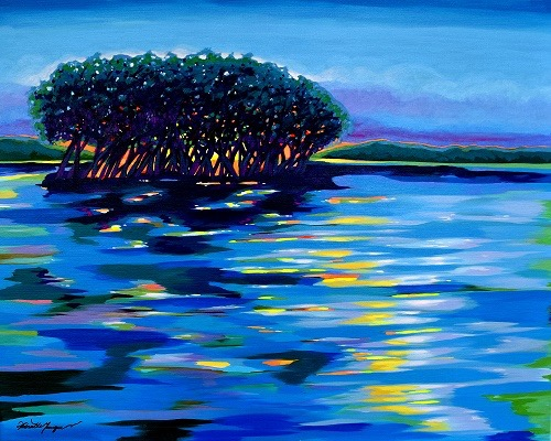 Blue Serenity-Acrylic on canvas -